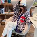 Dior Obliqueリバーシブル ディオールカーディガン ニットセーター 秋 スエット ゆったり 編み 模様 2021新作 レディース