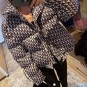 ディオール オブリーク柄 ダウンジャケット クリスチャン Christian Dior ダウンコート 冬用 2021AU 新作 レディース