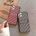 dior ディオール iphone13/13mini/13pro maxケース オブリーク柄 芸能人愛用 韓国風 コピー ディオール カーフスキン iphone 12/11 pro/xs/xs max/xrカバー