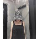 ディオールスーパーコピーハットキャップ DiorOblique リバーシブル ハット ブラックブルー激安偽帽子uvカットレディースファッション