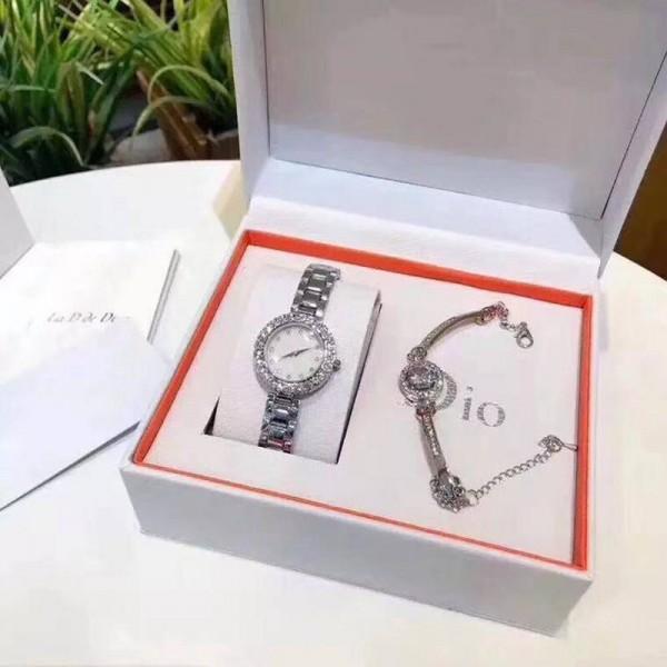 新作 Dior/ディオール 腕時計 ブランド ウォッチ ブレスレット 女 学生 レディース時計 韓国風 機械式時計 シンプル ダイヤモンド 防水タイプ 錆びにくい 美しい