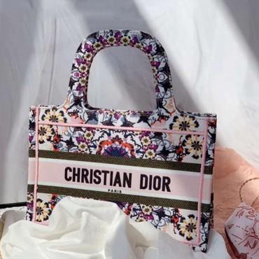 DIOR  オブリークブック 高級 トートミニバッグ 偽バッグ 激安 BOOK TOTE 民族風キャンバス バッグ プレゼント 入手困難