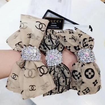 韓国風 リボン オールマッチ 激安 ヘアバンド ブランド Dior プレスヘア ヘッドバンド CHANEL カチューシャ可愛 Louis Vuitton ちょう結び カチューシャ ファッション 女性向け ダイヤモンド付き