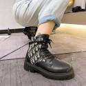 ディオールオブリークマーティンショートブーツ dior レディースシューズ  靴 コピー偽靴ブランドカジュアルシューズ レースアップ 美脚 歩きやすい 秋冬新作