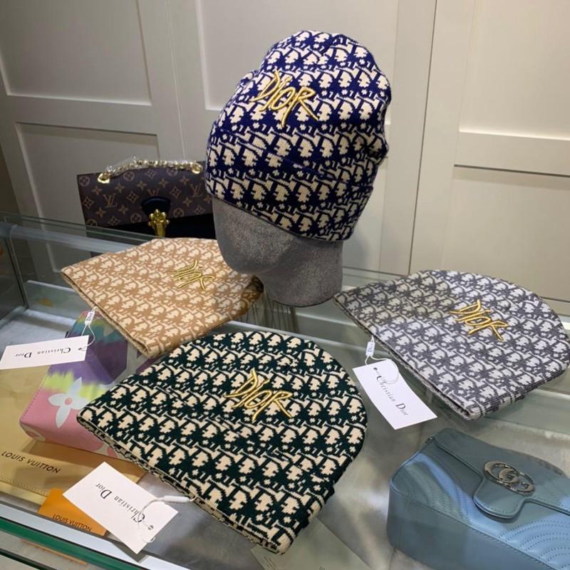 Dior オブリーク帽子キャップ ブランドコピー OBLIQUEウール 男女 秋冬 韓国風 カジュアル オールマッチ ニットハット 暖かい帽子 若者愛用 コールド キャップ ファッションニットキャップ メンズ 帽子 ニット帽