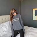 DIOR セーター ミドルゲージ クルーネックセーター 長袖 シンプル デザイン コーディネート 軽やか 綿100 ブランド ディオール レディースファッション通販 ニットトップス 暖かい ふんわり 伸縮性