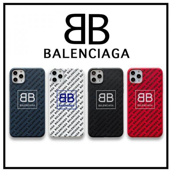 バレンシアガ スマホケース iPhone 12 pro max/12 mini/11/11pro maxケース ソフトシリコン iphone se 第2世代 BALENCIAGA モノグラム アイフォンx/xr/xs max/8/7/se2ケース ファッション 大人気 メンズ レディース