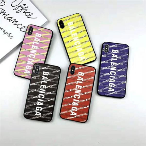 Balenciaga バレンシアガ iphone12 mini/12 pro maxケースハイブランドiphone13/12/11/xs/xr/8/7ケース メンズレディースストラップ付大人気 携帯ケース多機能