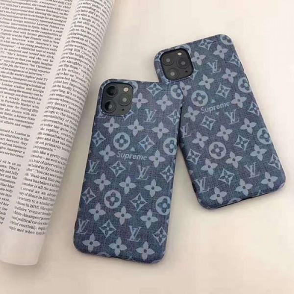Supreme/シュプリーム iphone se2/12/13 pro maxカバー 革製可愛いブランド風パロディケースiphone 11/12 mini/xs maxケース男女ペアお揃い大人気 携帯ケース多機能