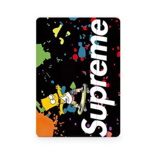 Supreme ipad pro 2021 12.9/11inch 2020ケース 8/7 世代 ブランド 顔料柄 シュプリーム シンプソンズ アイパッド 6/5/4/3/2ケース 手帳型 iPad Proケース 9.7インチ 2018/2017新型 iPad pro 9.7 11 12.9インチケース 2020/2018/2017 パロディ レプリカ 日本未入荷 メンズ レディース