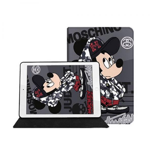 モスキーノ ディズニー コラボ  アイパッドエア1/2/3/4ケース Stussy 横開きIpad 8/7 世代 mini 4/5カバー ipad 5/6 9.7インチ Moschino 激安 Disney すべてのipad機種対応 モノグラム ダミエ アイパッド 6/5/4/3/2ケース 手帳型 iPad Proケース 9.7インチ 2018/2017