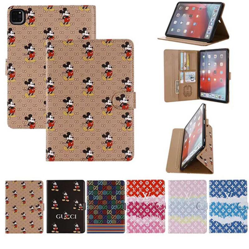 Gucci ディズニー コラボ iPad Pro 2021/2020ケース ブランド モノグラム 11/12.9インチ ダミエ LV ルイヴィトン iPad air4 8/7/6/5/4/3/2ケース 手帳型 アイパッド ミニ5/4カバー  Disney 9.7インチ 2020/2018/2017 新型 パロディ・レプリカ 日本未入荷 メンズ レディース