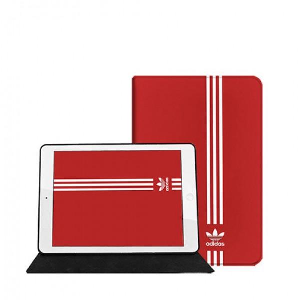 Adidas アディダス iPad Pro 2021ケース アイパッドエア1/2/3/4/8/7世代ケース 10/11.9 inches 赤色 横開きモノグラム トレフォイル柄 2020 ダミエ アイパッド 6/5/4/3/2ケース 手帳型 9.7インチ アイパッド プロ 激安 オーダーメイド メンズ レディース