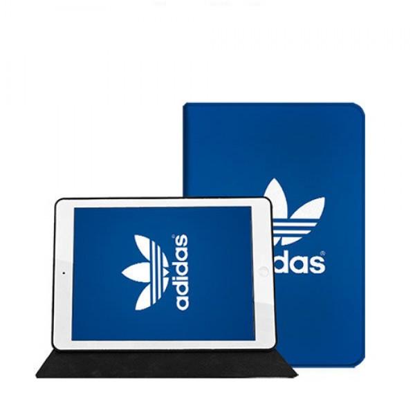 アディダス ipad pro 2021/8/air4ケース 11inches ブランド アイパッドエア1/2/3ケース Adidas 横開き トレフォイル柄 iPad Proケース 9.7インチ 2018/2017新型 iPad pro 9.7 11 12.9インチケース 2020 パロディ・レプリカ メンズ レディース