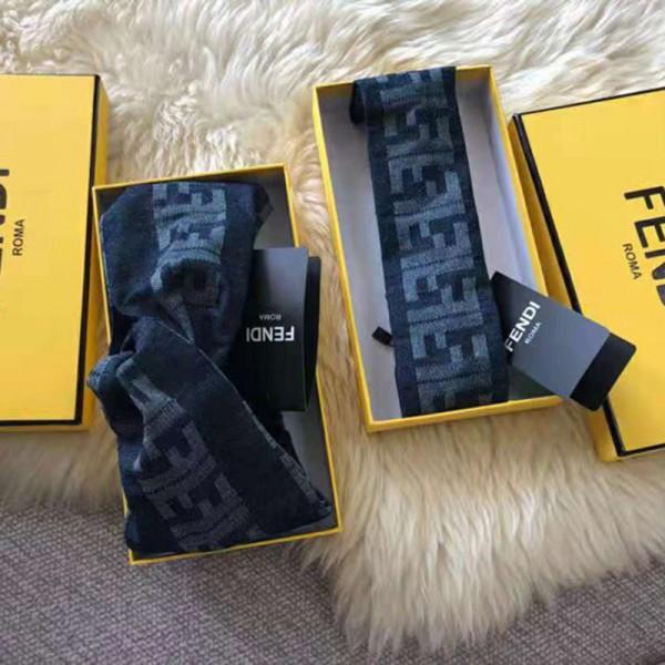 フェンディブランド流行りデニムバンドクロス トップ質感ヘアアクセサリー韓国風髪飾りシンプルコーデ Fendiブランドヘアターバン人気セレブおしゃれ愛用バンド