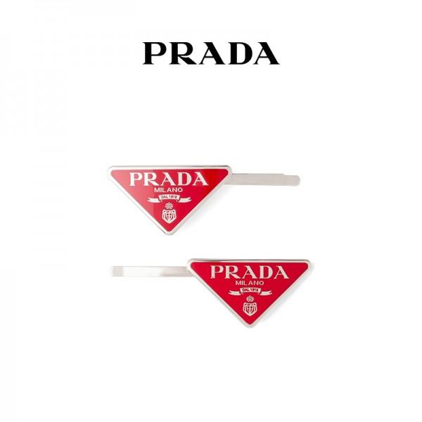 4色プラダ 金属 ヘアピン ブランド セット 飾り三角型 ヘアクリップPrada 激安 髪飾り 女性 普段使い 学生留めピン おしゃれ 最適 耐久性 アイドル愛用