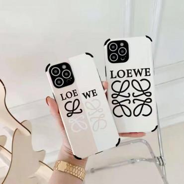 ロエベ iphone13/12/11/xs/xr/8/7ケース 可愛い LOEWE ブランド風 パロディケースiphone xr/xs maxケース 四角保護 芸能人愛用 可愛い メンズレディース