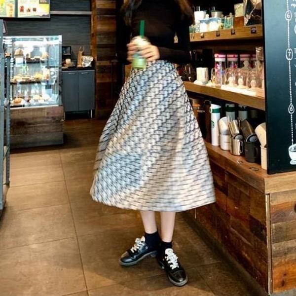 dior オブリークロングスカートレディースファッションディオールコーデフレアスカート Aラインスカート マキシスカート ロング丈 マキシ丈 大きいサイズ 体型カバー ツイ