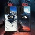 ザ・ノース・フェイス Galaxy s21/21+/21ultra/s20/s20+/s20 ultraカバー 雪山柄 レザー iphone 12 mini/12 pro max/11 pro max/se2ケース ステッチ風 THE NORTH FACE ブランド galaxy  s10/s9/s8/note10/note9/note8ケース ins風 アイフォン12/12 pro/11/11 pro/x/xs/xr/8/7/6カバー レディース愛用