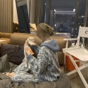 dior ディオールルームウェアセットアップパロディ ふわふわ パジャマ/上下セットセットアップ 長袖 パンツパジャマ 刺繍ロゴ かわいい おしゃれ 冬