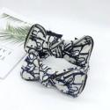 ディオールリボンカチューシャハイブランドオブリーク蝶結び付きヘアアクセサリー 女性向けカチューシャトロッター柄