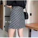 ディオールミニ Dior ショートスカートブランドオブリーク短いスカート激安 ins A字型 短いスカート ハイウエスト
