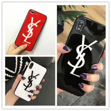 YSL iPhone 12/12 pro max xperia 5/1/10 ii ケース galaxy s10/s20+ huawei p30 iPhone xs/xs plus/xr/11 proケース イヴサンローラン Iphone x/8/7 plusスマホケース galaxys20/s9/s10 plusケースブランド Iphone6/6s Plus Iphone 11 pro max/6/6s/se2カバー ジャケット 簡約 アクリル製