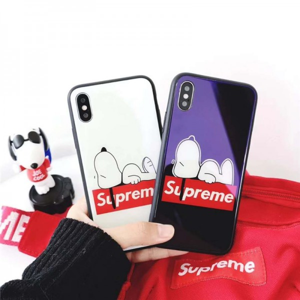 supreme snoopyコラボiPhone 12/12 mini/12 pro max  xperia 5/1/10 ii 5/8 /ace/xz2/xz3ケース galaxy note20/note20 ultra iPhone11/11pro max/xr/xs max/xsケース シュプリーム iphone x/8/7スマホケース ブランドIphone6/6s Plusカバー ジャケット スヌーピー 可愛