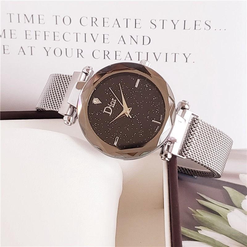 DIOR 韓国風 ウォッチ 男 女 時計 腕時計 学生 ステンレススチールベルト