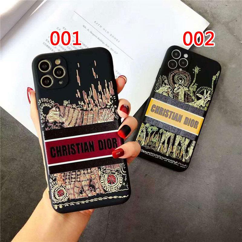 ディオールアニマルモチーフ民族風iphone 12ケース