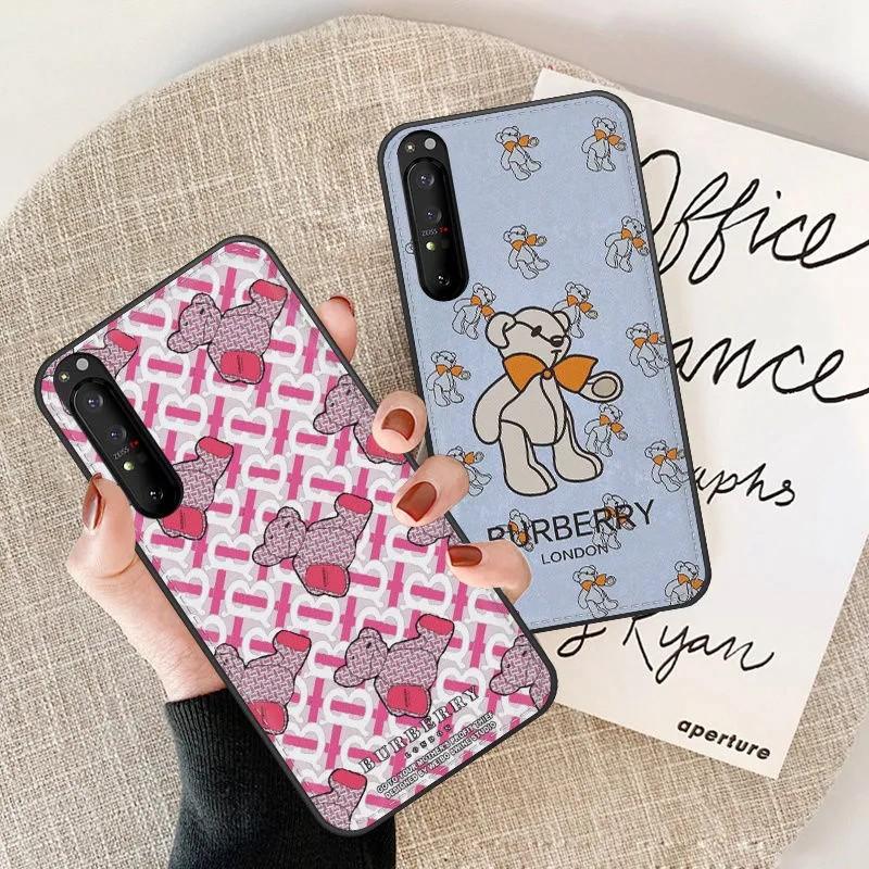 バーバリー Burberryブランドgalaxy s21/note20/s20ケース ビジネス 熊 革 シンプル iphone12mini/12proケース ジャケット ins風