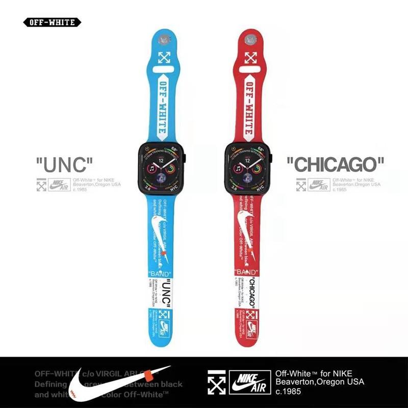 Nikeコラボ Apple Watch 6/5/4/3ベルト 交換用スポーツ風アップルウォッチ6/Se 2020 バンド ブランド レディース男女通用
