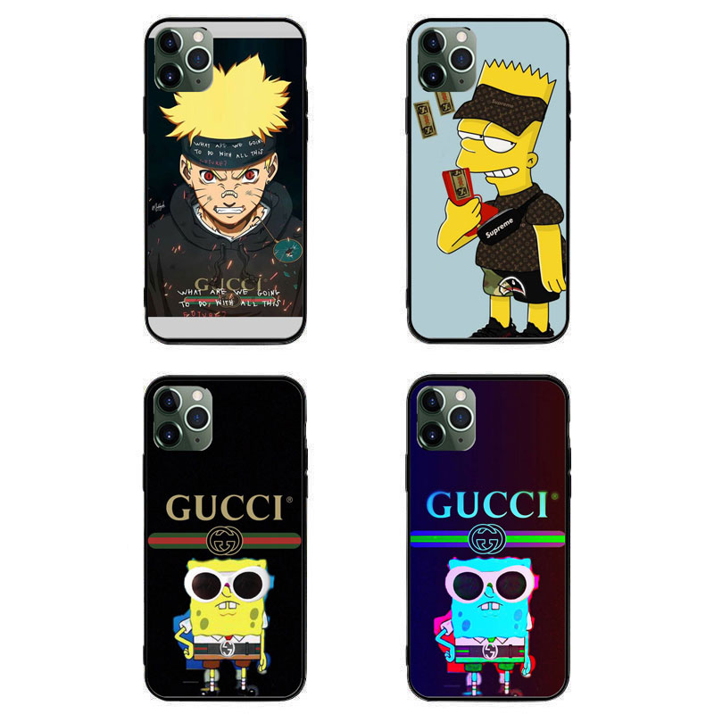 Gucci ブランドiPhone 12 mini/12 pro max 全機種対応 Galaxy s21/s20+ケース グッチ iPhone 12/xr/xs max/xs/11pro/11ケース ナルト 激安 xperia 5ii/1/10 III Supreme 個性潮 スポンジボブ シュプリーム AQUOS