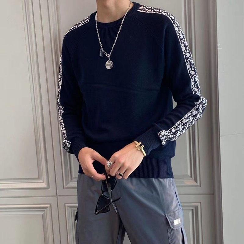 ディオールセーター スウェット編み物ニット製 クルーネック 大きいサイズ 潮 ブランド