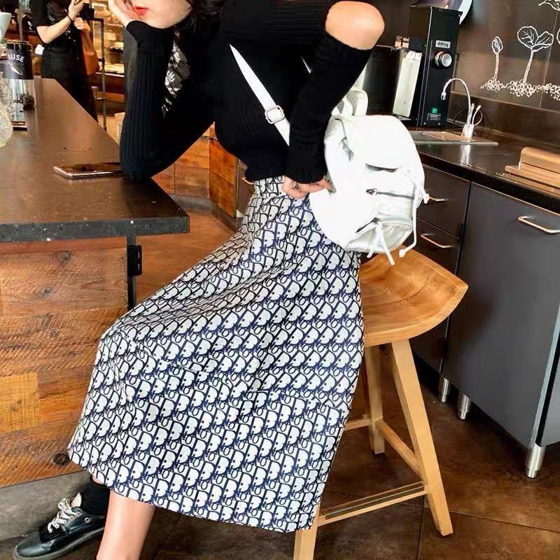ファッションディオールコーデフレアスカート Aラインスカート